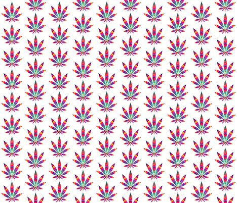 Marijuana leaf of acid fabric by dazeddandelion on Spoonflower - custom fabric
