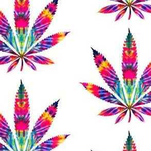Marijuana leaf of acid