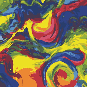 Multicolor Paint Swirls