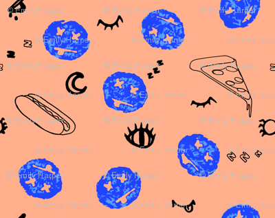 Cheeky Smiley & Assorted Icon Print