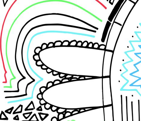 Simple & Fun Hand-drawn Linework fabric by em_birdie on Spoonflower - custom fabric