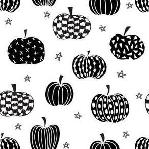 pumpkins // black and white pumpkin halloween kids pumpkins october fall kids