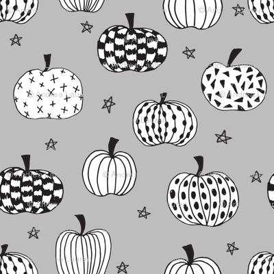 pumpkin // pumpkins grey white black kids halloween  halloween fabric for kids projects kids costumes kids halloween