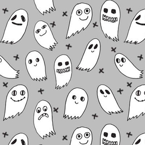 ghosts grey kids baby black and grey kids cute october halloween fabric