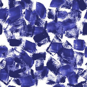 paint indigo painterly abstract cute kids nursery art artist trendy decor