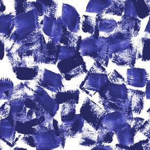 paint indigo painterly abstract cute kids nursery art artist trendy decor