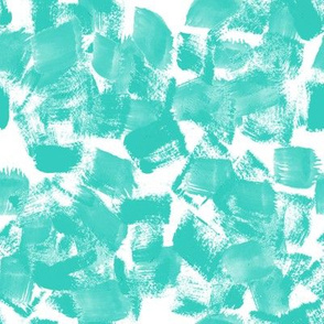 painterly paint aqua turquoise kids sweet girls abstract painted brushstroke art artist mark making abstract fabric