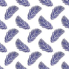 palm print indigo blue palms tropical palm print summer blue kids girls tropical palms