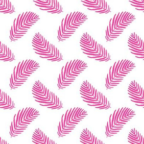 palms palm print pink tropical watercolor painted pink palm frond vibes tropical palm fabric