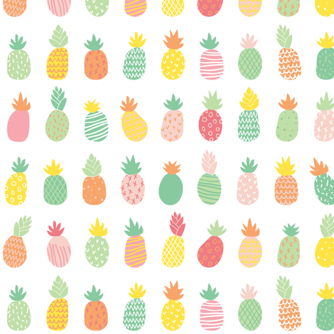 Summer Pineapples fabric by polita on Spoonflower - custom fabric