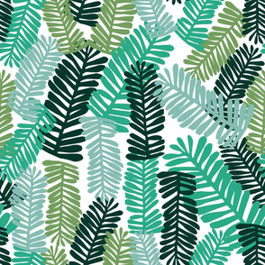 palm print xl palms leaves green