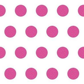fuschia glitter dots