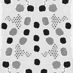 paint grey gray painted abstract dots artistic pattern