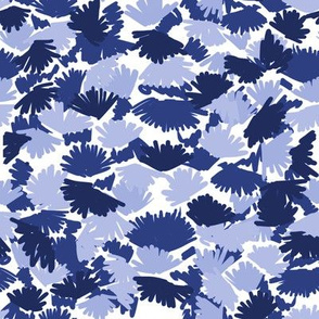 indigo abstract camo camouflage leaves leaf cute indigo painted abstract print