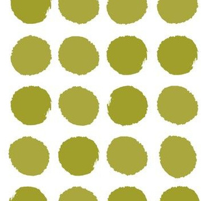 dots avocado green dots painted simple large dots