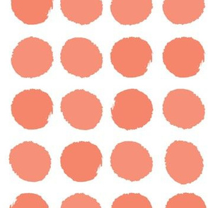 dots orange kids coral baby nursery coral dots cute dots