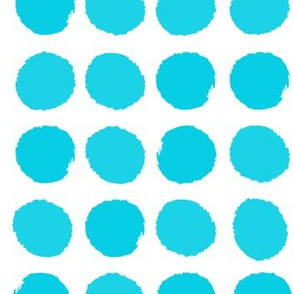 turquoise dots aqua teal girls dots polka dot cute turquoise dots fabric