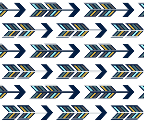 arrow_multi_dark_revise fabric by sproutz on Spoonflower - custom fabric