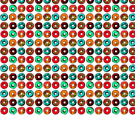 Pop Art Donuts fabric by verystarry on Spoonflower - custom fabric