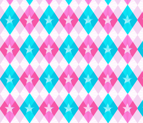 Young Star's Argyle fabric by landimonk on Spoonflower - custom fabric