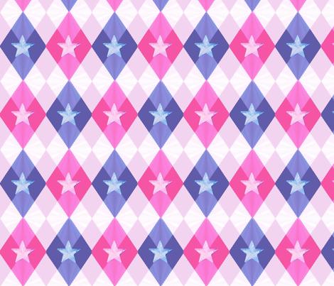 Sexy Star Argyle fabric by landimonk on Spoonflower - custom fabric