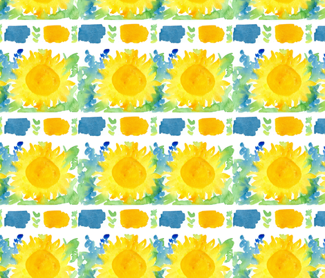 Provence Sunflowers fabric by countrygarden on Spoonflower - custom fabric