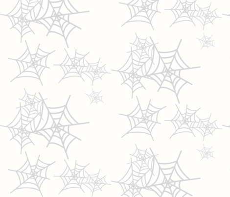 Cobweb spider web - grey and white  fabric by sunny_afternoon on Spoonflower - custom fabric