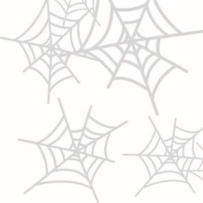 Cobweb spider web - grey and white