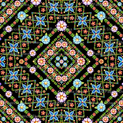 Millefiori Floral Lattice