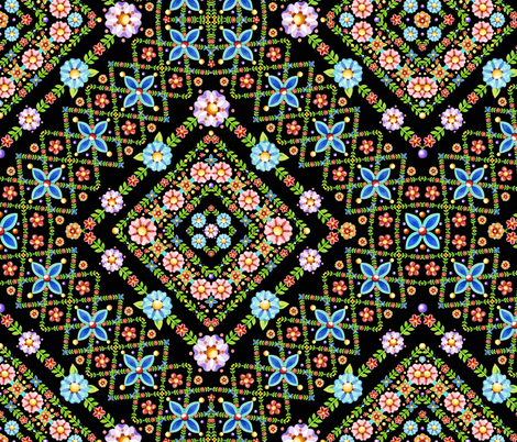 Millefiori Floral Lattice fabric by patriciasheadesigns on Spoonflower - custom fabric