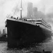 Titanic in dock in Southampton