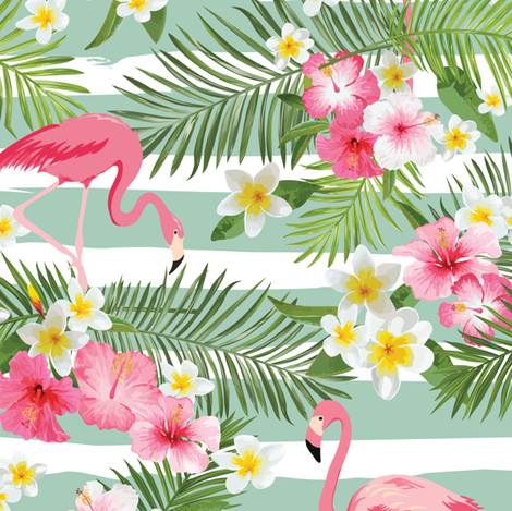 Tropical Flamingo fabric by sandityche on Spoonflower - custom fabric