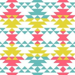 SW TRIangles - pink teal yellow