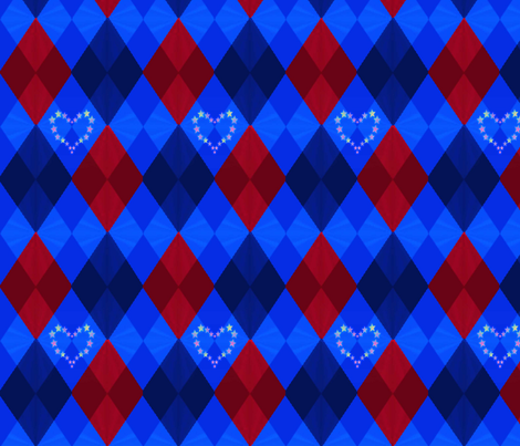 Rebel Star's Heart Argyle fabric by landimonk on Spoonflower - custom fabric