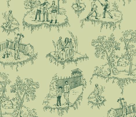 Zombie Toile - Green fabric by julieprescesky on Spoonflower - custom fabric