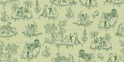 Zombie Toile - Green