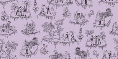 Zombie Toile - Purple