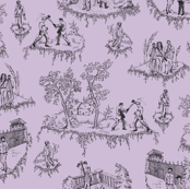 Zombie Toile - Purple