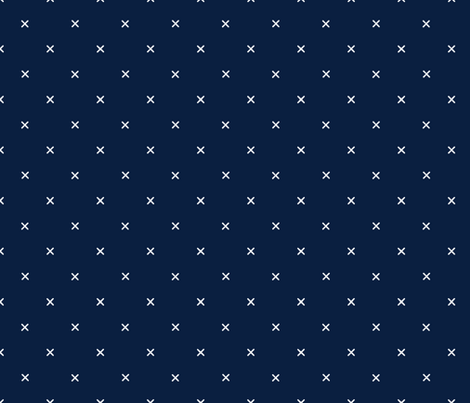X // Navy fabric by ivieclothco on Spoonflower - custom fabric