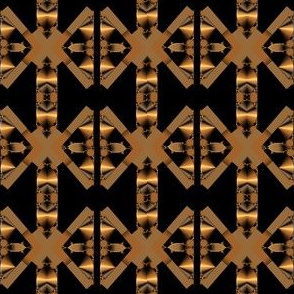 Black Bronze Gold Art Deco Geometric