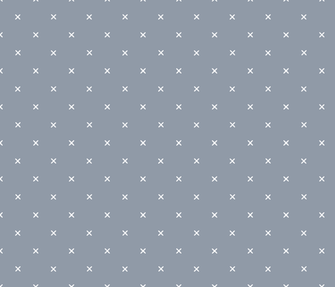 X // Pantone 174-4 fabric by ivieclothco on Spoonflower - custom fabric