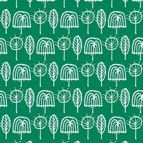 Scribble Trees (Green)