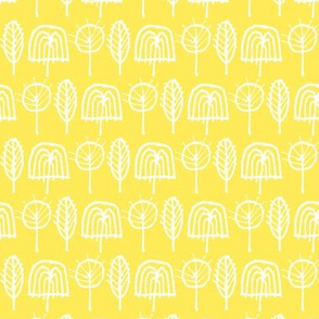 Scribble Trees (Yellow)