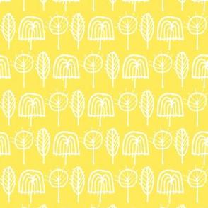 Scribble Trees (Yellow)