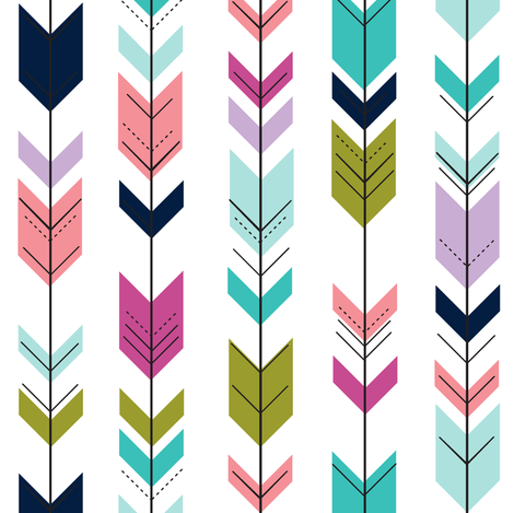 fletching arrows (small scale) || good cheer collection fabric by littlearrowdesign on Spoonflower - custom fabric