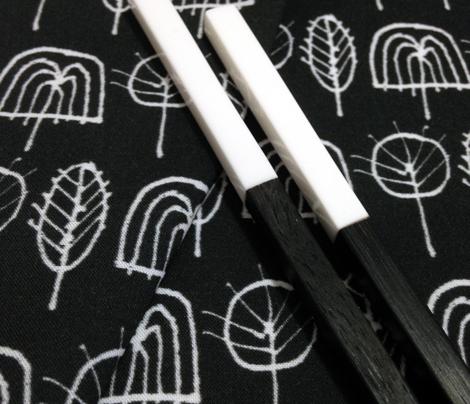 Scribble Trees (Black)