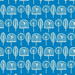 Scribble Trees (Blue)