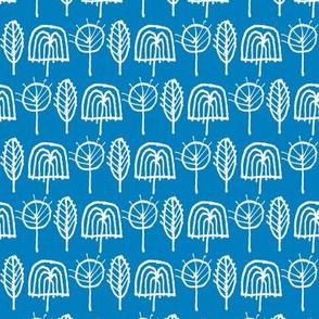 Scribble Trees (Blue)