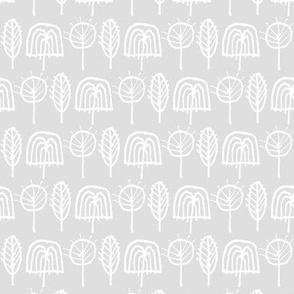 Scribble Trees (Gray)