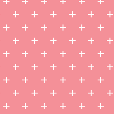 bubble gum cross || good cheer collection fabric by littlearrowdesign on Spoonflower - custom fabric